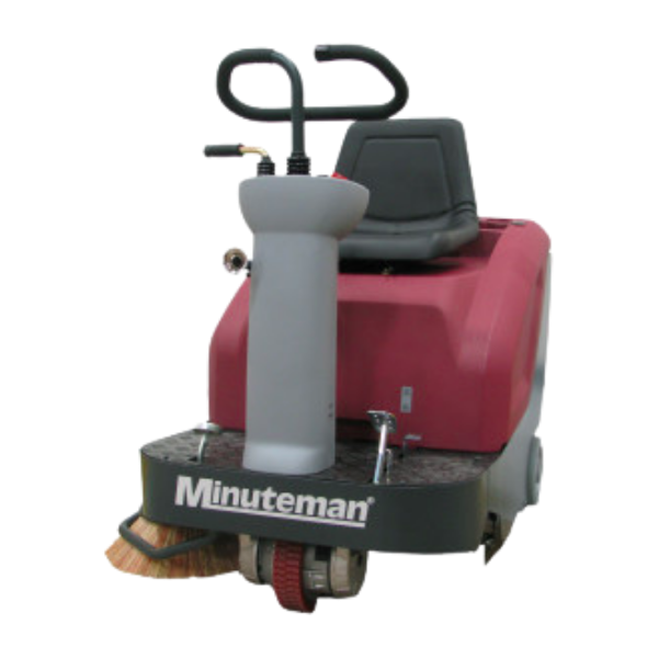 Minuteman kleen sweep ride on floor sweeper