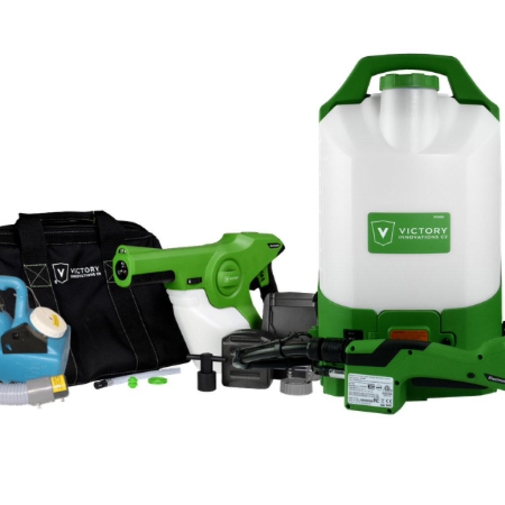 Electrostatic sprayers for disinfection